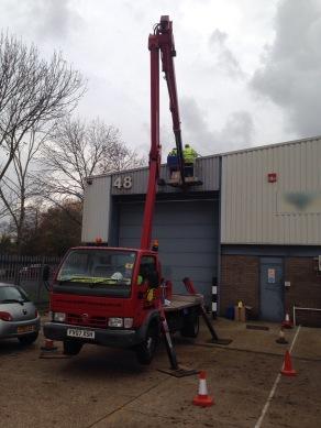 installing bird spiking on industrial unit