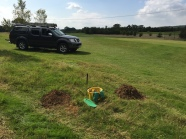 Mole catching on the golf course