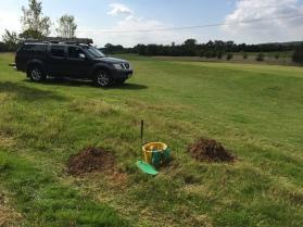 Mole control around the golf course