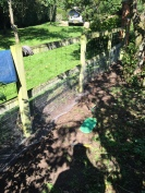 Rabbit proofing post and rail fence